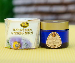 Skin - cream with honey night cream- Pleva
