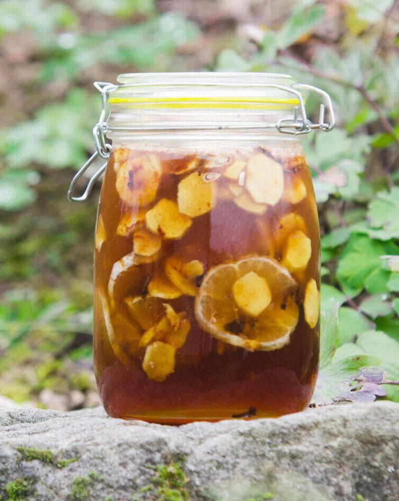 Zázvorový sirup s citronem, medem, skořicí a hřebíčkem - posílení imunity - Pleva