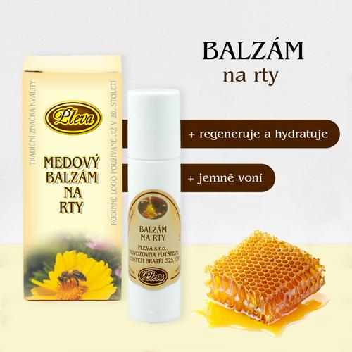 Medový balzám na rty kulička - Pleva