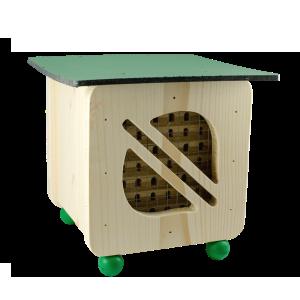 Hmyzí hotel pro včelky samotářky, Pleva