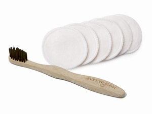 tierra verde, bambusový zubní kartáček, pratelné kosmetické tampony