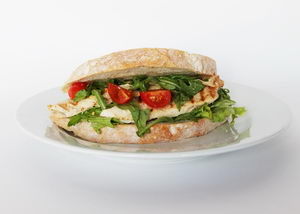 domácí sendvič s krůtím masem