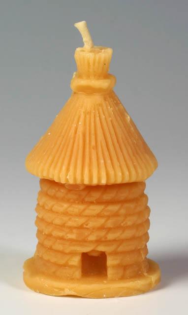 Pleva Svíčka ze včelího vosku - úl velký, výška 8,2 cm
