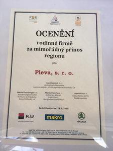 Ocenění za mimořádný přínos regionu, Země Živitelka, Pleva