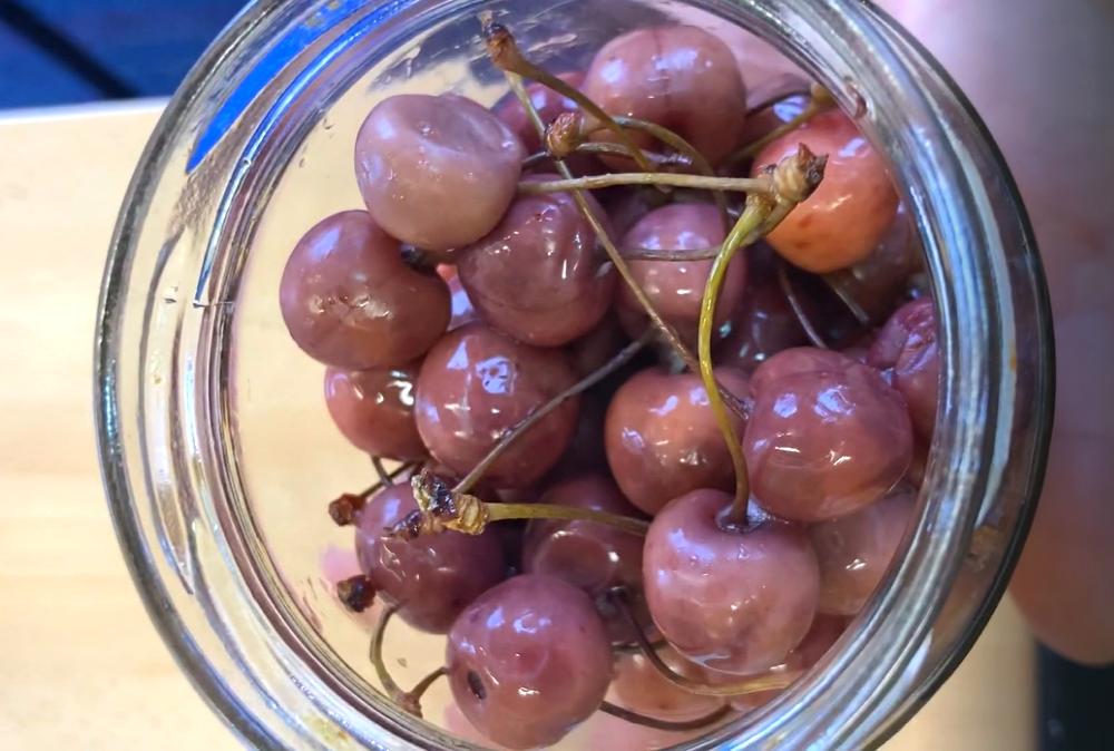 vitariánská konzervace podle Anastasie, třešně