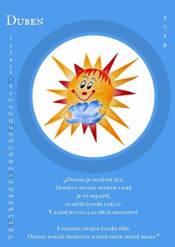 Kalendář sluníčka 2019 duben, Pleva
