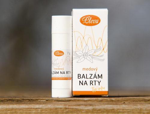 medový Balzám na rty s příchutí vanilky, tyčinka - Pleva