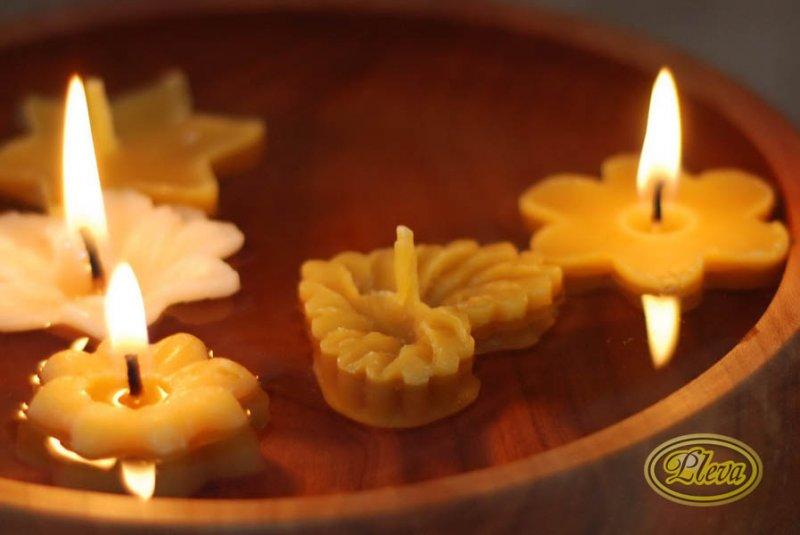 Pleva Plovoucí svíčky ze včelího vosku 1 ks