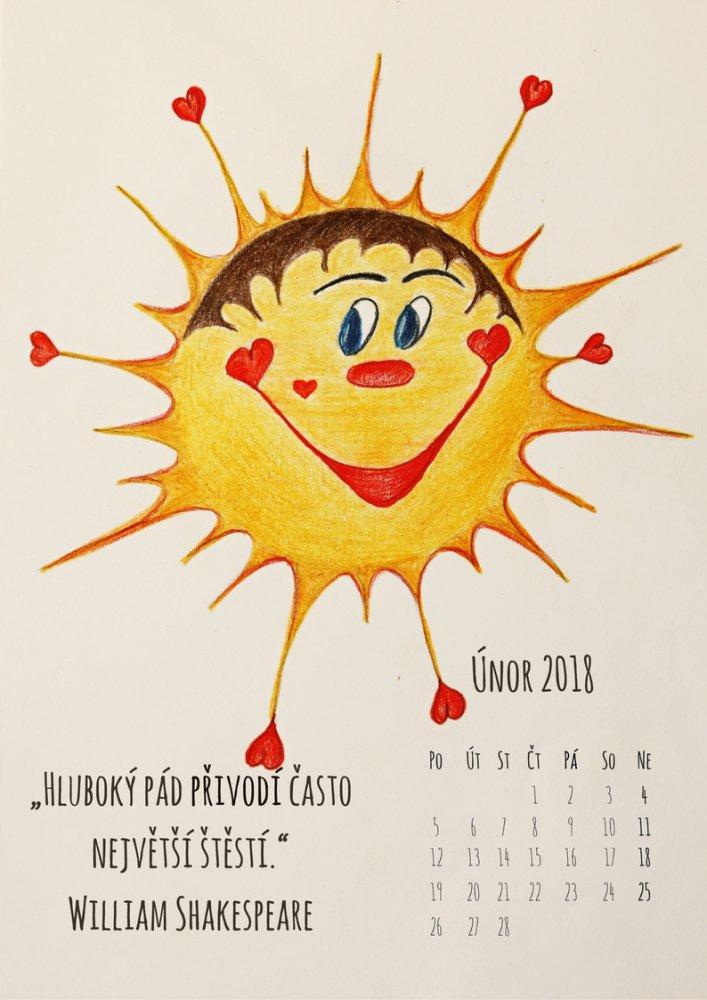 Sluníčkový kalendář - únor