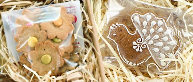 dárková kazeta, medový perníček, sušenky zázvorky z chráněné dílny, Pleva