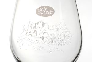 Sklenice na medovinu rodinné firmy Pleva, hrad Potštejn