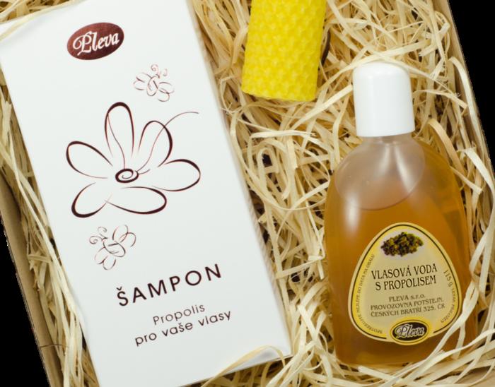 dárková kazeta, Šampon propolis pro vaše vlasy, Vlasová voda s propolisem