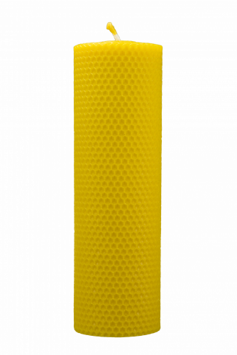Beeswax candle, Hand rolled - width 70mm - Height of candle: 200 mm