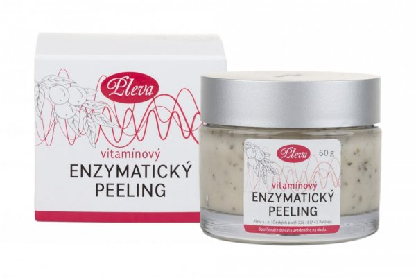 Peeling with enzymes and vitamins