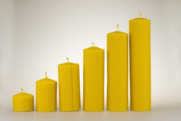 Candles from beeswax, width 50mm - Height of candle: 200 mm