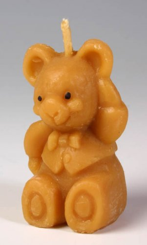 Beeswax Candle, Hand Poured, Big Bear