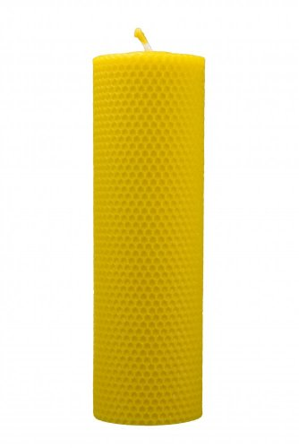 Beeswax candle, Hand rolled - width 70mm - Height of candle: 67 mm