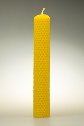 Candles from beeswax, width 30mm, height 167mm