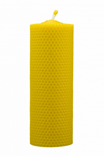Beeswax candle, Hand rolled - width 70mm - Height of candle: 167 mm