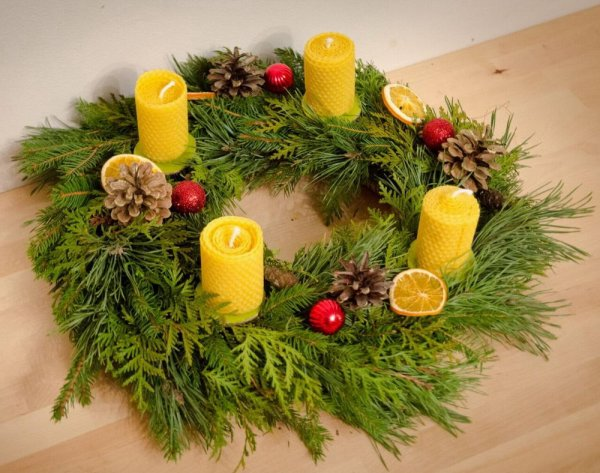 4 candles for ADVENT