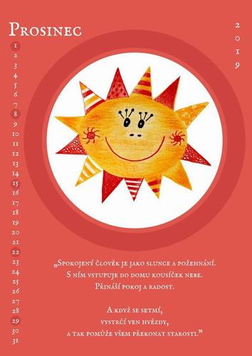 Kalendář sluníčka 2019 prosinec