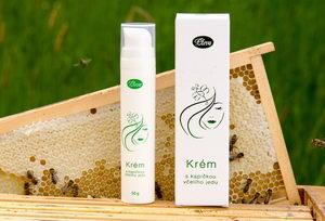 Krém s kapičkou včelího jedu, přírodní složení
