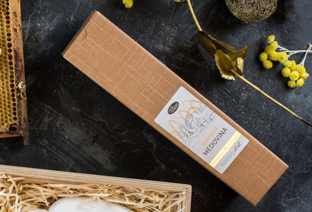Dárková krabice na medovinu Pleva
