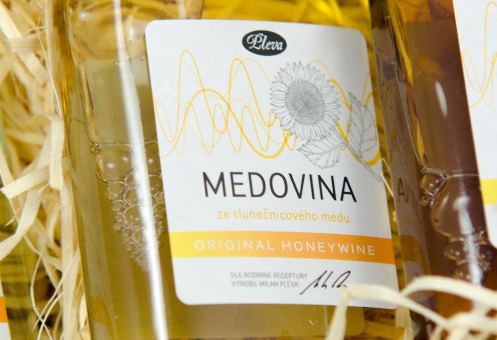 Sunflower Mead wine 0,2l hip flask, Pleva