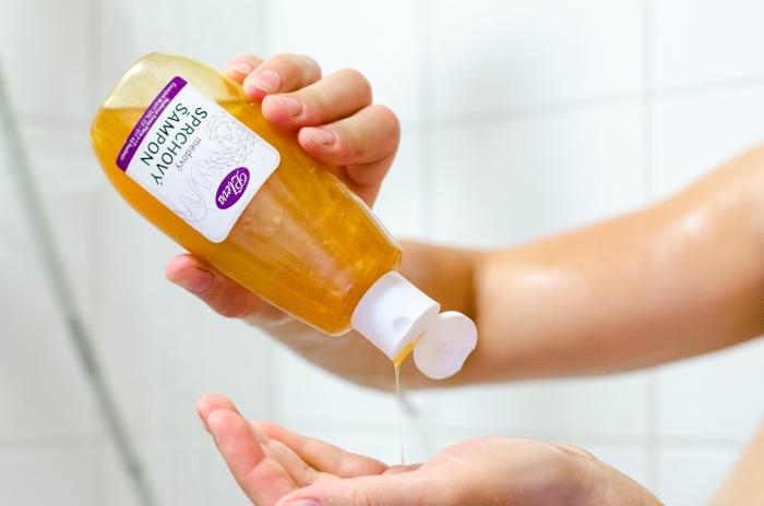 Medový sprchový šampon, Pleva