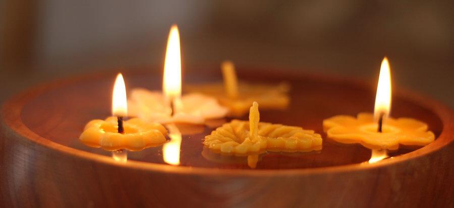 plovoucí svíčky