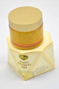 medový peelingový krém - pleva,
