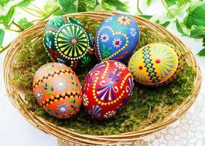 Velikonoční tradice a zvyky, barvení vajec - Pleva
