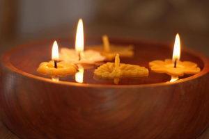 svíčky ze včelího vosku, vdechování spalovaného vosku