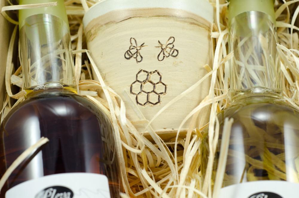 dárková sada Luxusní medoviny Jin - Jang, Pleva