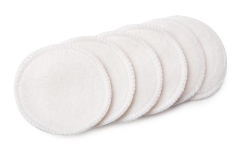 Kosmetické tampony pratelné z bambusu a biobavlny, biobavlněný sáček, Pleva