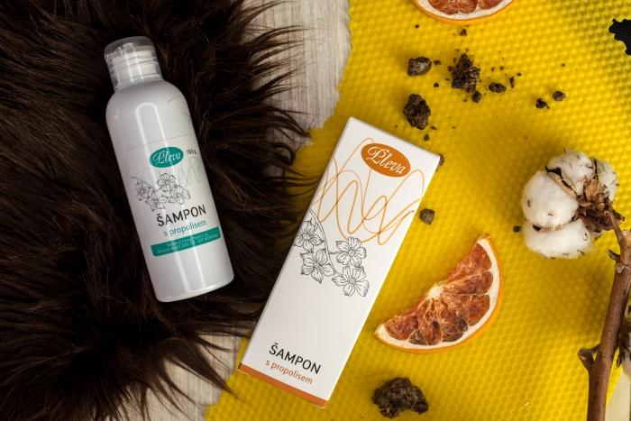 péče o jemné vlasy, Šampon s propolisem