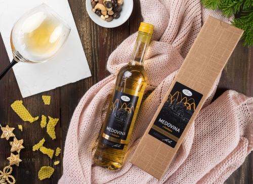 dárková krabice na medovinu, medovina v dárkovém balení, Pleva