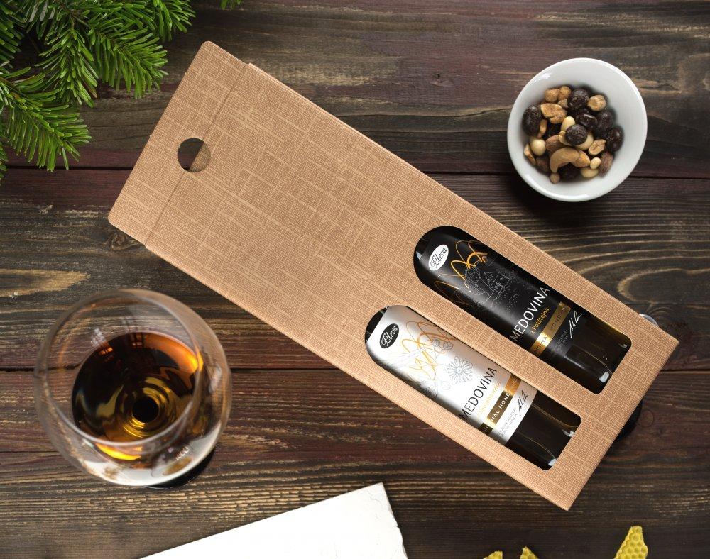 Dárková krabice na dvě medoviny Pleva
