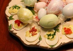 co s vejci po velikonocích, plněná vejce