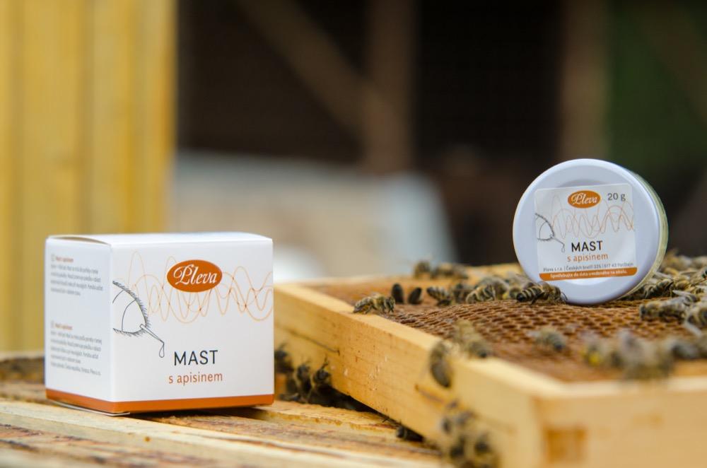 Mast s apisinem - včelím jedem, Pleva
