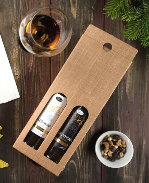 Dárková krabice na dvě medoviny, medovina v dárkovém balení, medovina pleva