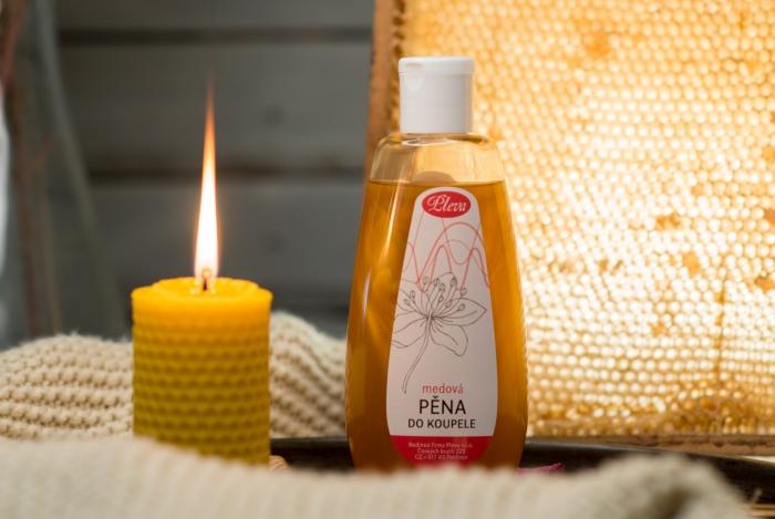 Medová pěna do koupele Pleva