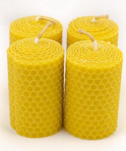 Adventní svíčky ze včelího vosku - Pleva
