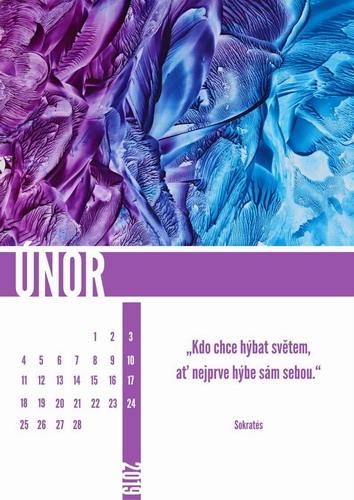 Kalendář enkaustika 2019 únor