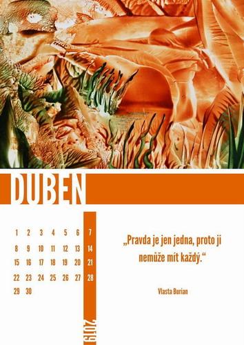Kalendář enkaustika 2019 duben