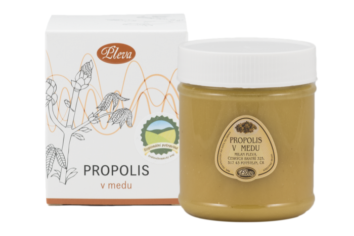 Propolis v medu, dárková sada, Pleva