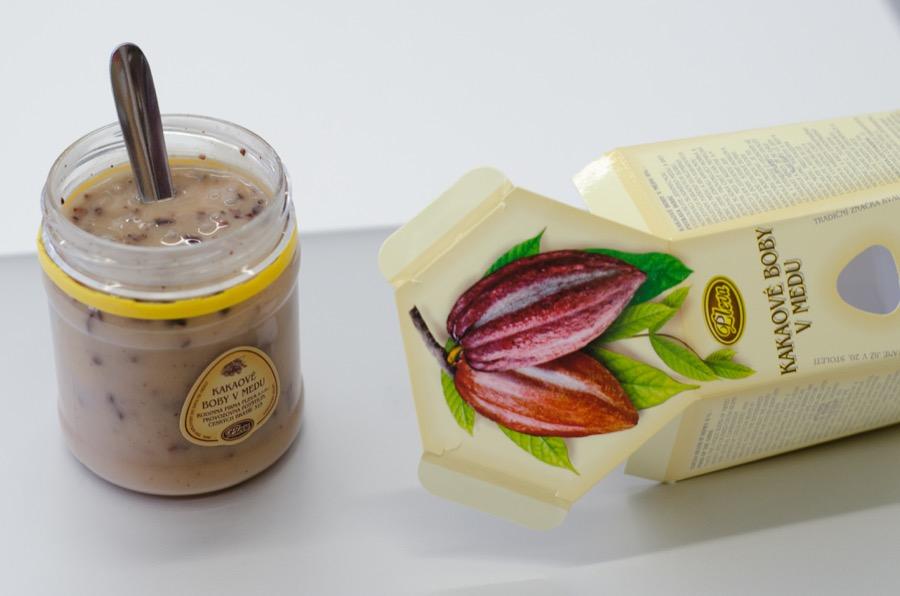 Pleva Kakaové boby v medu 250g
