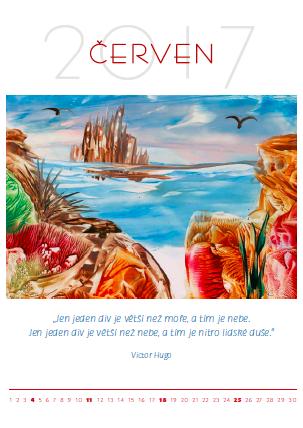 Kalendář enkaustika - červen