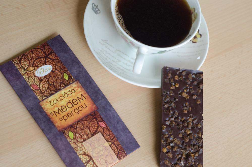 čokoláda s pylem perga 90%, hořká, kvalitní