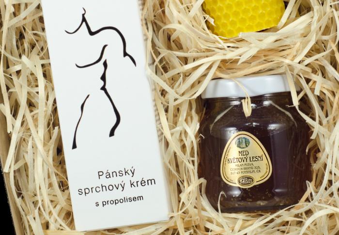 dárková sada, Pánský sprchový krém s propolisem, lesní med